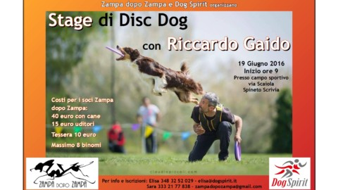 EVENTO CINOFILO – Stage di Disc Dog a Spineto Scrivia (AL)