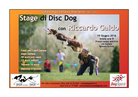 EVENTO CINOFILO – Stage di Disc Dog a Spineto Scrivia (AL)