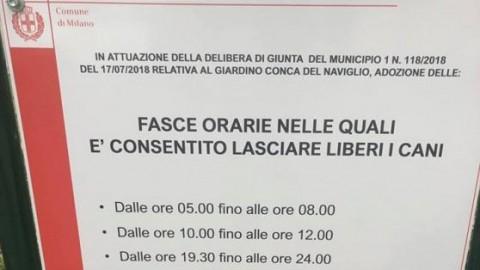 Milano, CANI LIBERI in determinati orari
