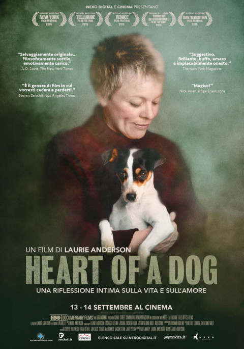 Heart of a dog di Laurie Anderson al cinema il 13 e 14 settembre