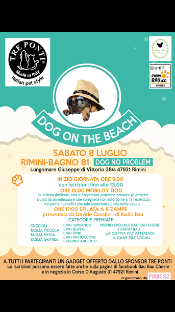 Dog on the Beach! Sabato 8 Luglio a Rimini!