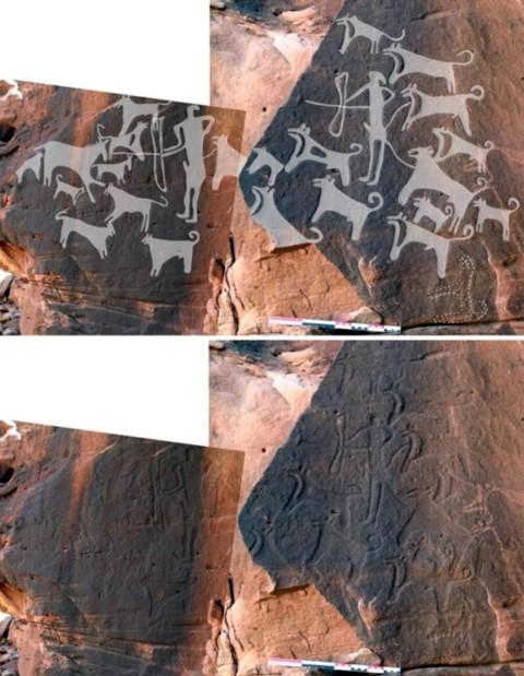 Il primo ritratto di un cane al guinzaglio risale a 8.000 anni fa!