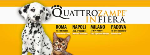 Quattrozampeinfiera arriva a Roma il 17 e 18 marzo
