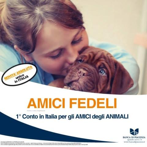 Amici Fedeli: Banca di Piacenza inventa il conto corrente per gli amanti degli animali