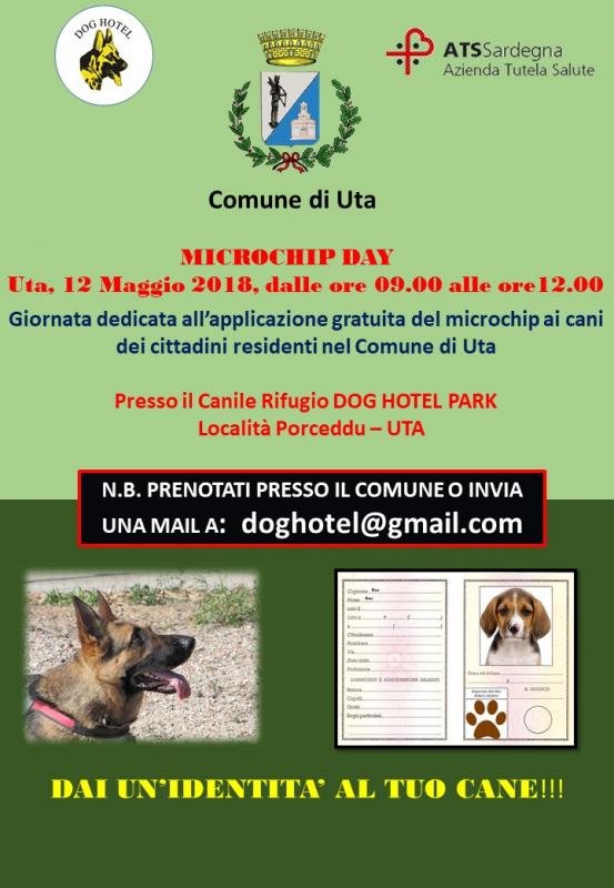Microchip gratis in Sardegna a Uta