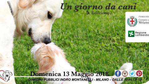 """""""Un giorno da Cani"""" l'evento a Milano il 13 maggio"""